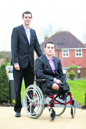 Former Pte Alex Stringer lost three limbs in an explosion in Afghanistan. His school friend Conor Aldous vowed to look after him