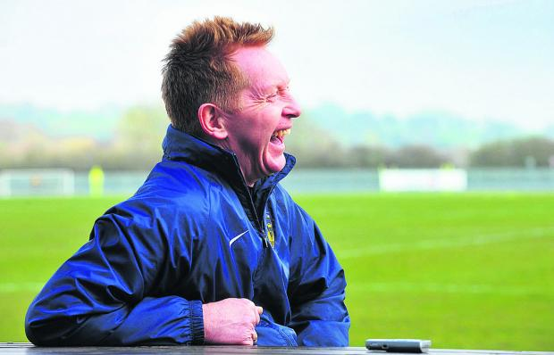 Bicester Advertiser: A lighter moment when talking about the 1986 Milk Cup final