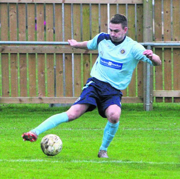 Ryan Brooks took his league goals tally to 40 in Ardley United's 4-0 win at Newbury