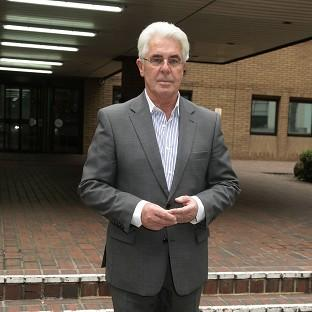 Max Clifford leaving Southwark Crown Court in London as his trial continues