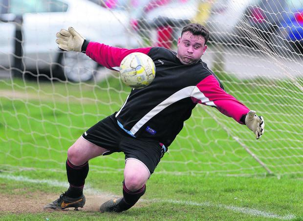 Bletchingdon keeper Nick Lacey makes