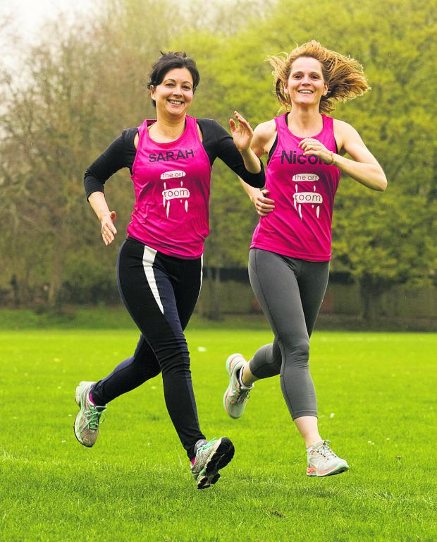 Bicester Advertiser: Nicole Rahimi, left, and Sarah Hewitt