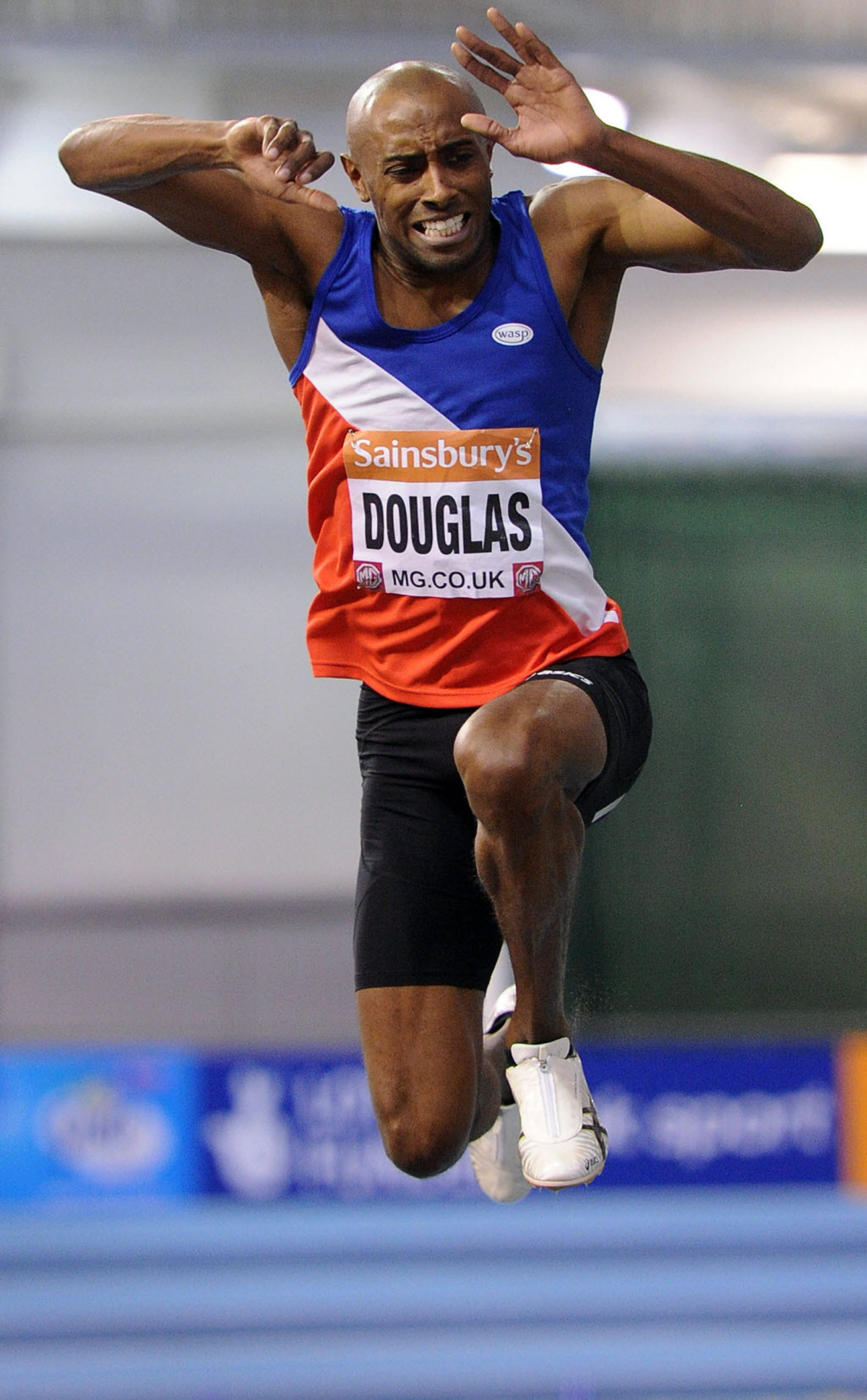 Nathan Douglas in action at the National Indoor Championships in February