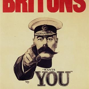 Pals Battalions were inspired by the famously moustachioed Lord Kitchener's