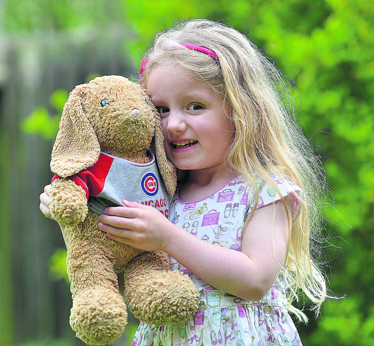 Chloe Kinch-Jones with her beloved Mummy Bunny Picture: OX66512 Simon Williams
