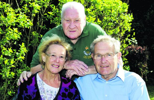 Bicester Advertiser: Grenville Toomey with Valerie Busby and her partner Tom Selwood. Picture: OX66649 David Fleming