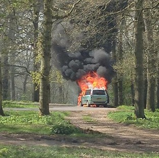 Kingswood family trapped in flaming car at lion enclosure