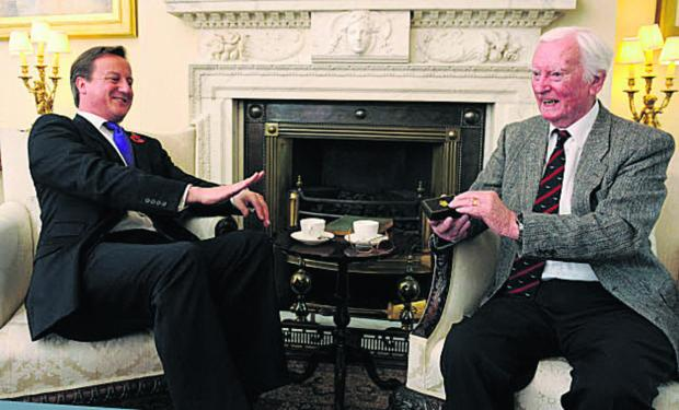 PM David Cameron met Leslie Valentine in 2012