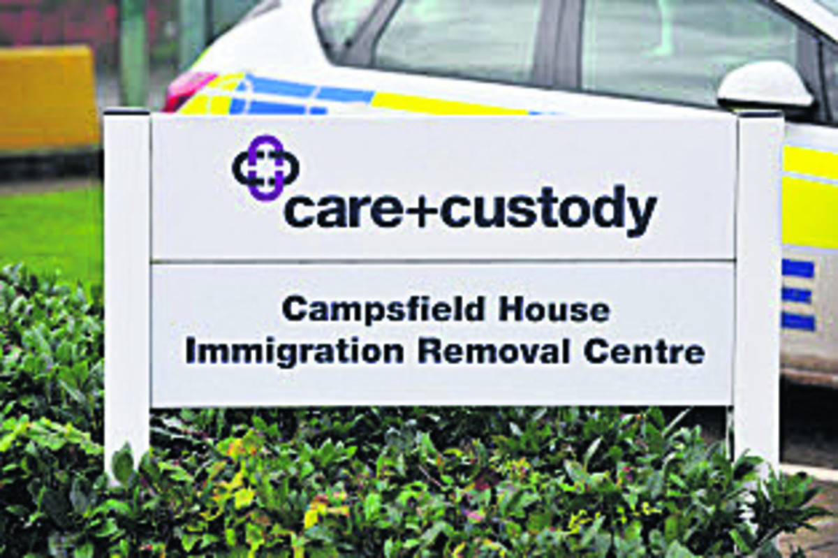A new sprinkler system for Campsfield detention centre has been approved