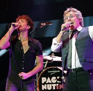 Bicester Advertiser: Paolo Nutini (left) and Roger Daltrey perform on stage during the Teenage Cancer Trust series of charity gigs