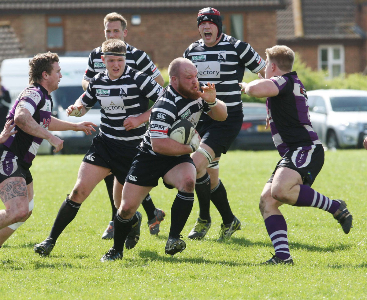 Chinnor hooker Joe Pickett shows the battling qualities they needed to defeat Exmouth on survival Saturday in National 2 South