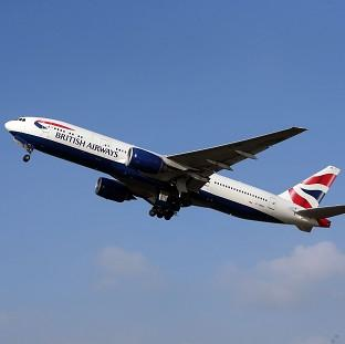 Passengers on the BA flight have been told the risk of infection is 'extremely low'