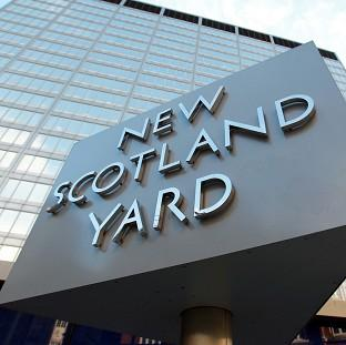 Scotland Yard said the police car was on its way to an incident when the collision with the pedestrian happened