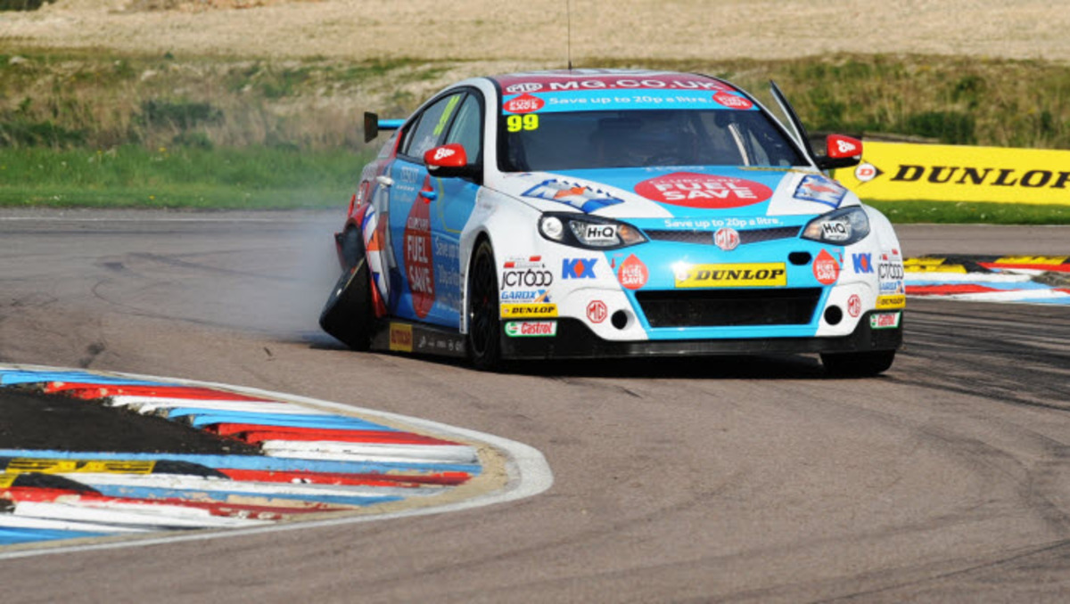 Jason Plato limps home in race three