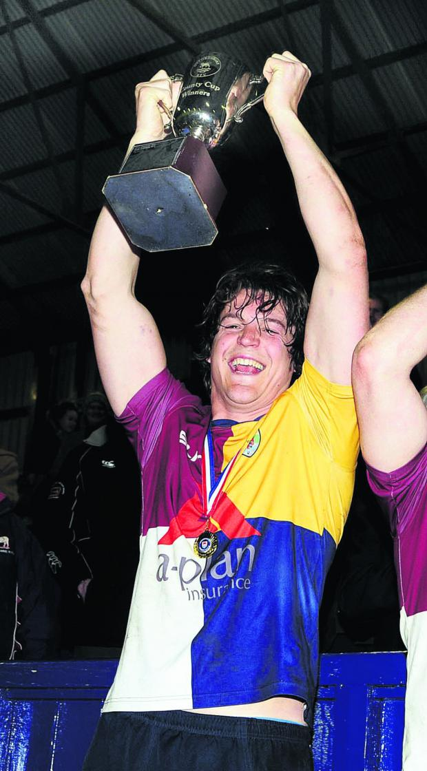 Bicester Advertiser: Luke Brown lifts the Oxfordshire Cup