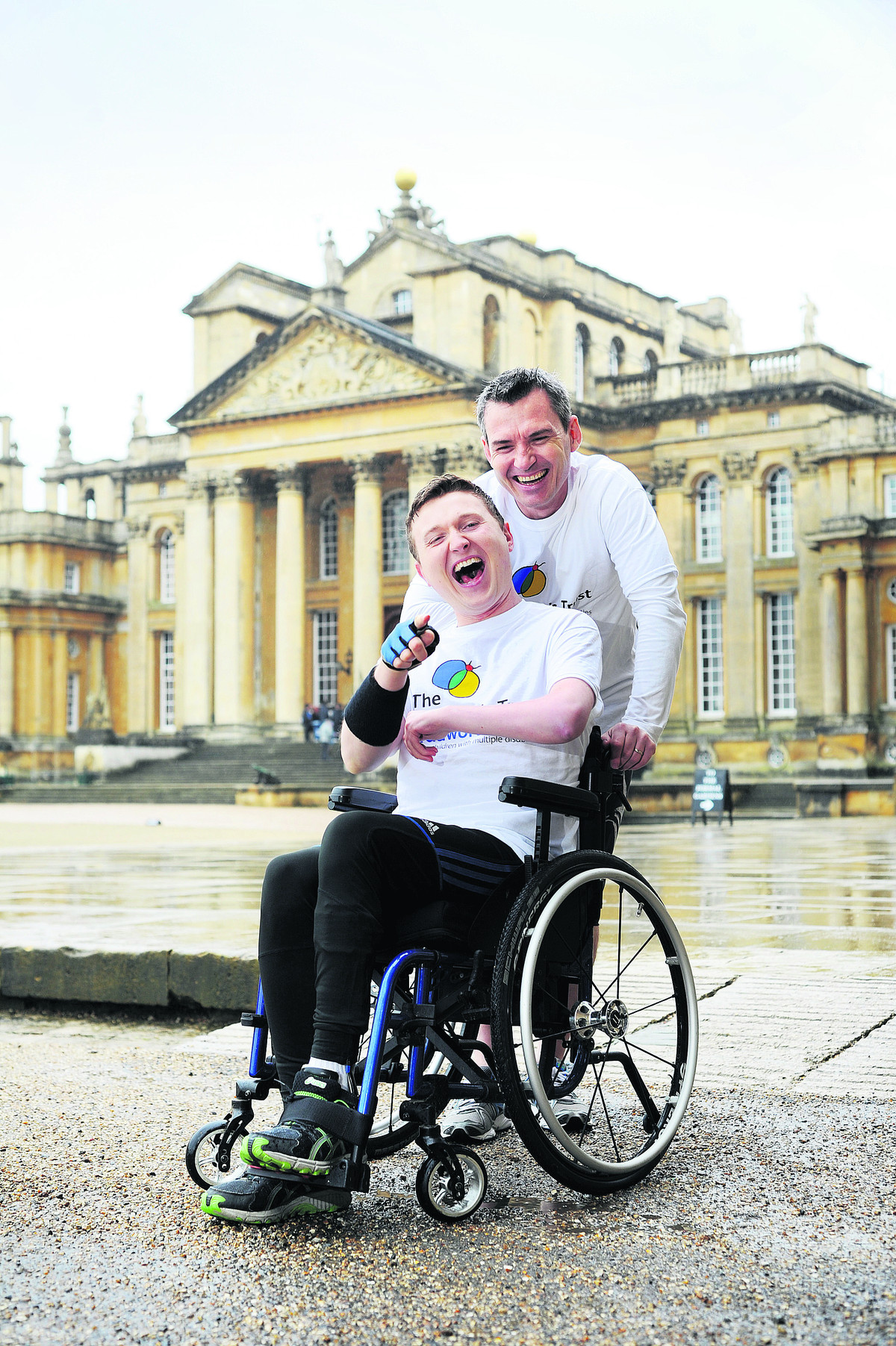 Edward McDonagh is the first wheelchair entrant in the Blenheim 7k race. He will be accompanied by his trainer Johnathan Watson