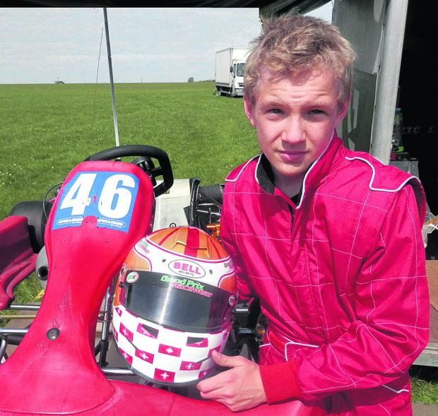 MOTORSPORT: Karter George in a spin