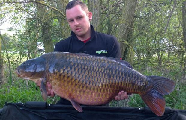 Sam Townsend with his 48lb common carp from Linear Fisheries' Stanton Harcourt complex