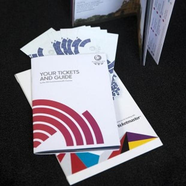 Bicester Advertiser: Tickets and a guide for the Glasgow 2014 Commonwealth games are being sent out today