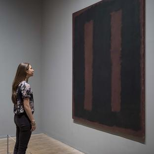 Black on Maroon 1958 by influential artist Mark Rothko has gone back on display after 18 months of restoration work after it was vandalised at Tate Mode