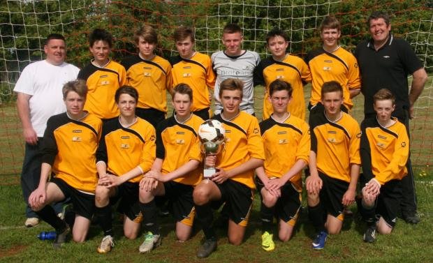 Grendon Rangers with the Under 15 Knockout Cup