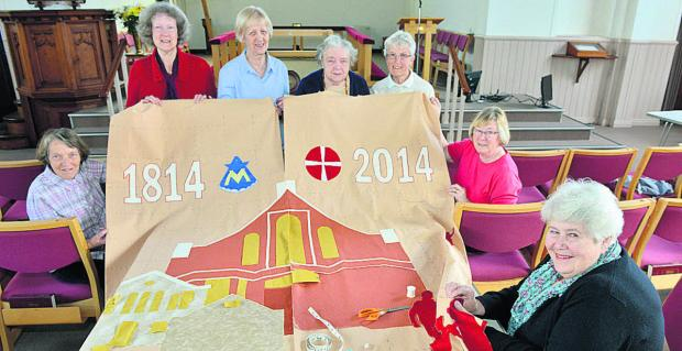 From left, Mary Brydon, Heather Law, Judy Lacey, Yvonne Launchbury, Jeannette Upton, Pam Homans and Marjory Playford