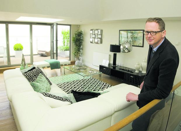 Bicester Advertiser: Simon Vernon-Harcourt in one of the new homes created from the old bunker,