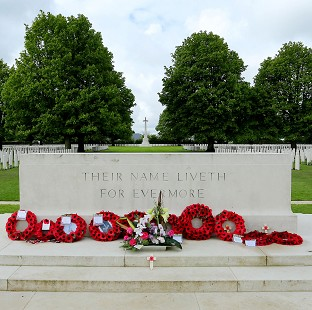The Bayeux War Cemetery in Normandy, ahead of preparations to mark the 70th anniversary of the Normandy landings