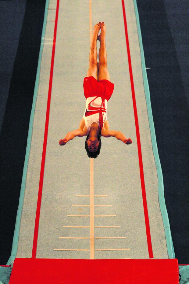 Bicester Advertiser: Ben Goodall's acrobatic routine won gold in Coventry