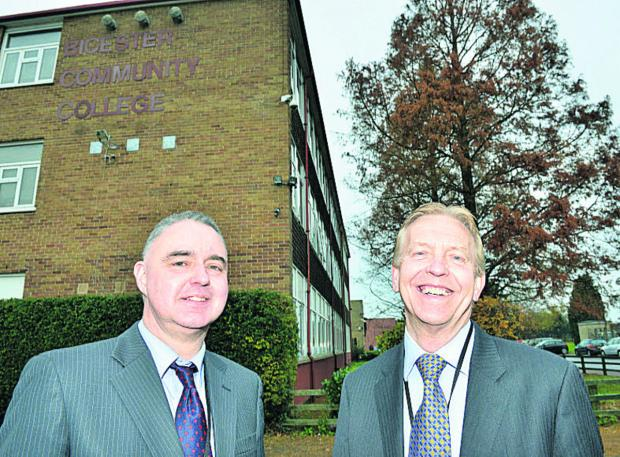 New permanent headteacher Tony Rushworth, left, and chairman of the interim executive board Bob Wintringham