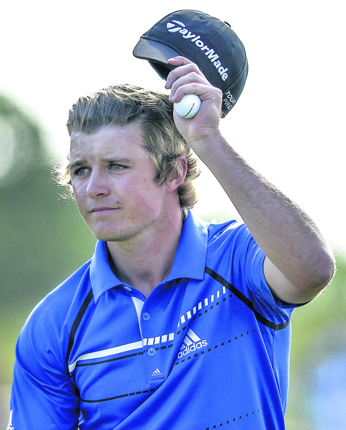 Eddie Pepperell salutes the crowd at Malmo this weekend
