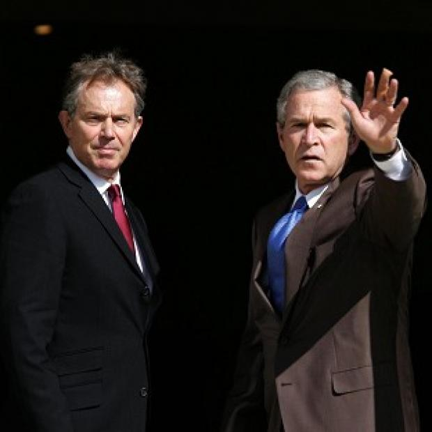 Bicester Advertiser: Former Prime Minister Tony Blair, pictured with George Bush, has ducked calls to sanction the release of his exchanges with the former US President in the run-up to the Iraq war.