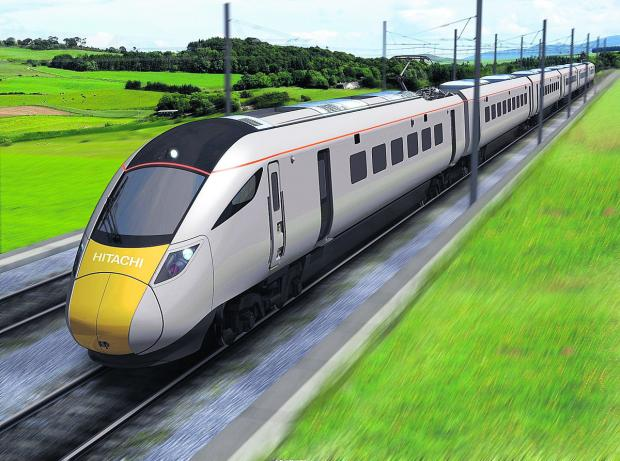 FUTURE  VISION: An artist's  impression of one of the new electric trains