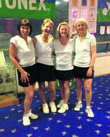 Oxfordshire's Over 50s women. From left: Tracey Hodson, Ruth Ballantyne, Mary Joyner and Sarah Widdowson