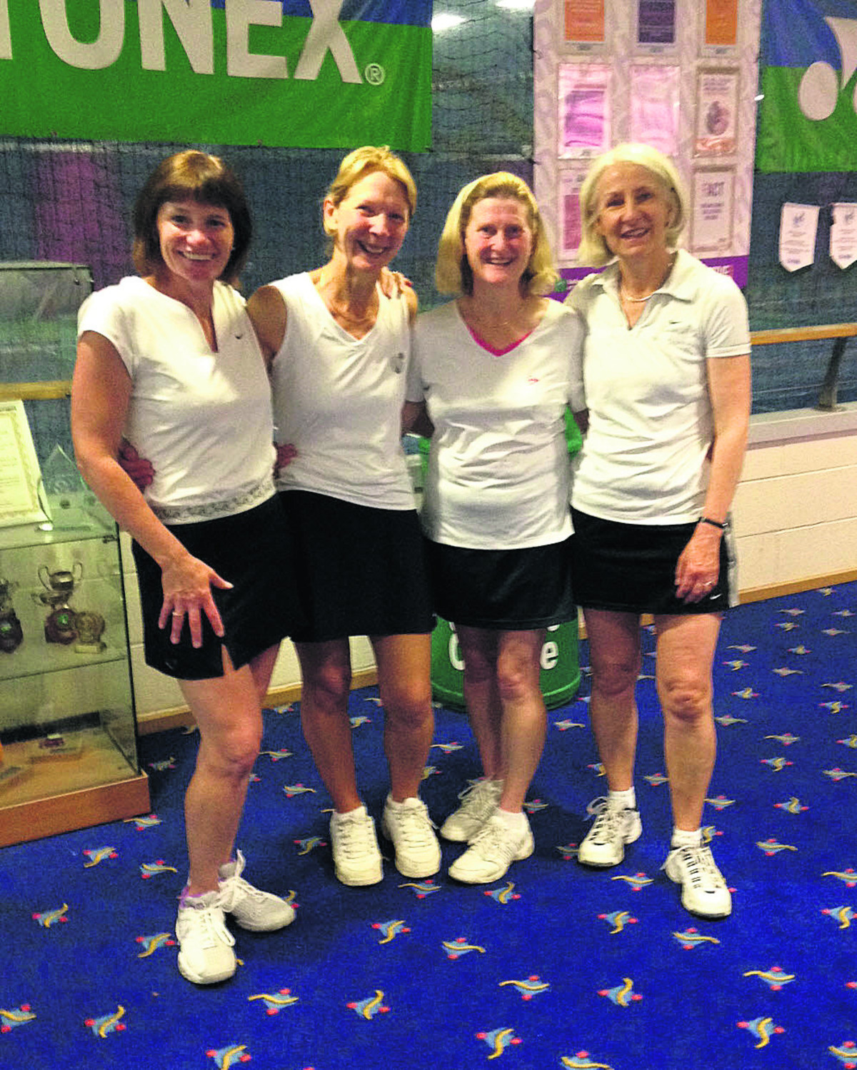 Oxfordshire's Over 50s women. From left: Tracey Hodson, Ruth Ballantyne, Mary Joyner and