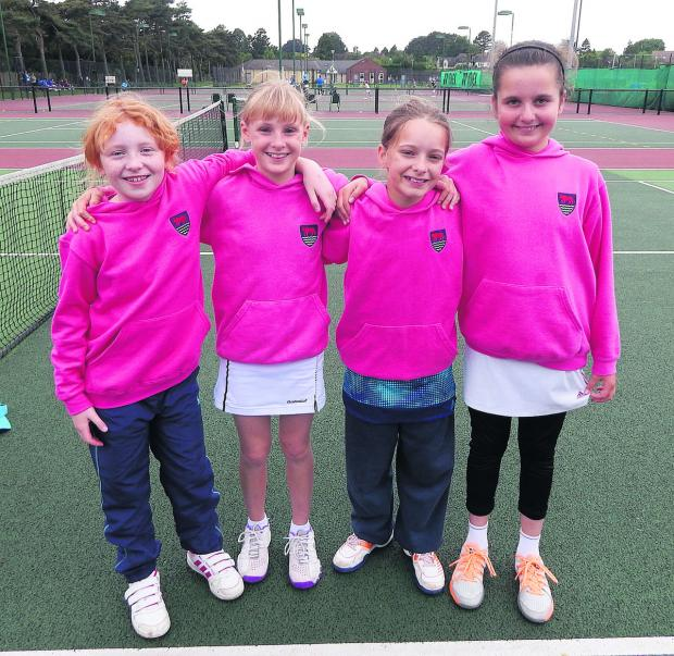 Oxfordshire's Under 10 girls (from left): Ruth Tyson, Chloe Elliott, Matilda Mutavdzic and Diana Mascenikova