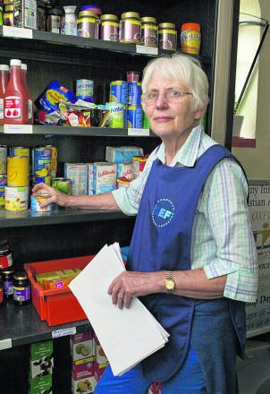 Jane Benyon at the Community Emergency Foodbank in Cowley