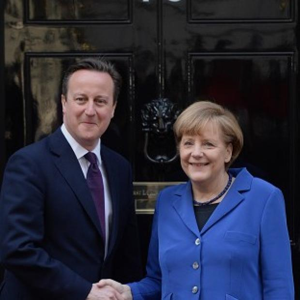Bicester Advertiser: David Cameron is to continue talks with German leader Angela Merkel in Sweden