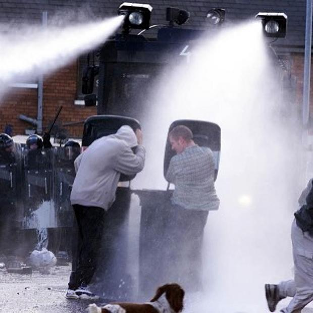 Bicester Advertiser: Water cannon have previously been deployed in Northern Ireland