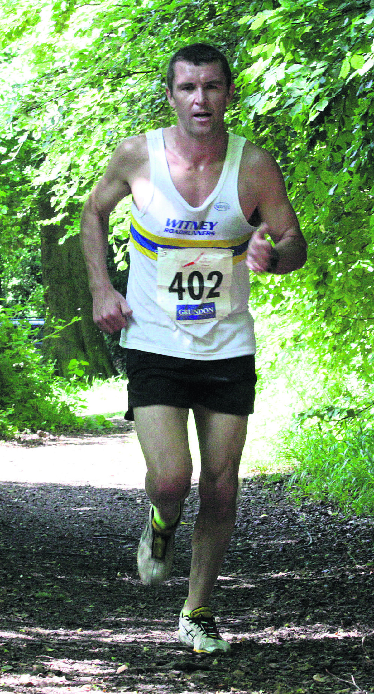 Tegid Jones on his way to victory in the Chiltern Chase 10k Picture: Barry Cornelius