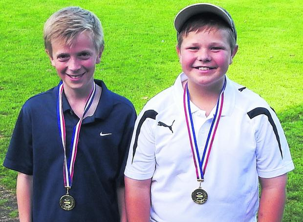 Bicester Advertiser: Will Stanton (left) and Jimmy Strainge pictured after their success in Faringdon.