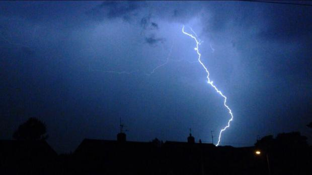 Readers' pictures: Lightning storm over Oxfordshire