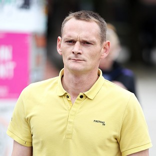 Lee Horner arrives at Leeds Magistrates' Court for a hearing over the death of his partner in a dog attack