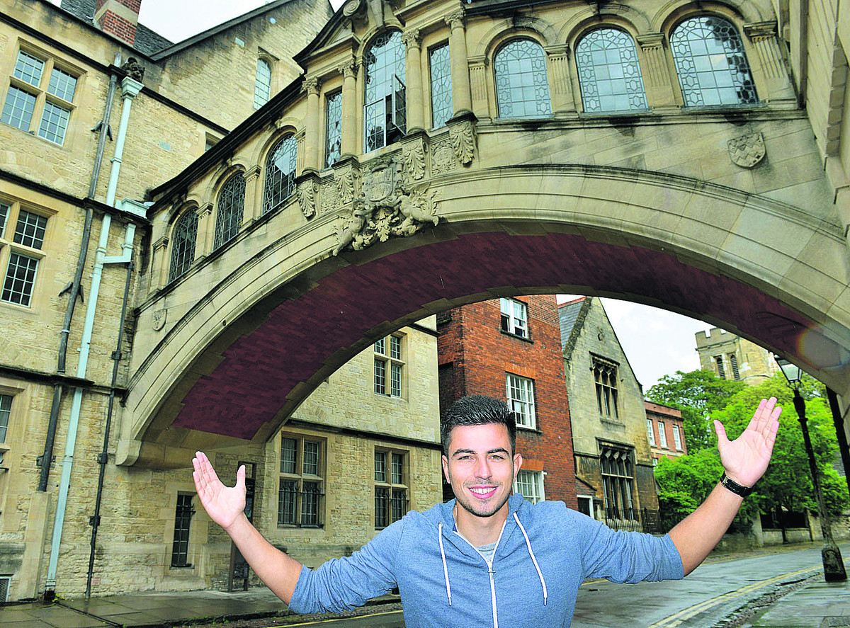 Felipe Barcelos pictured at the city's Bridge of Sighs