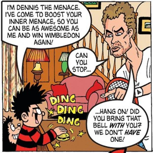 Bicester Advertiser: Andy Murray as he appears in the latest edition of the comic, The Beano, which he also guest edits.