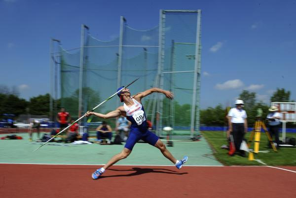 Freddie Curtis in action at this year's Loughborough International          Picture: Gary Mitchell