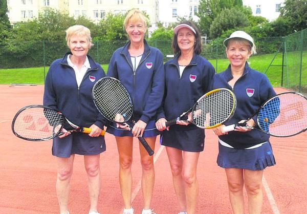 Bicester Advertiser: Oxfordshire Ladies Over 50s team (from left): Liz Gilkes, Ana Coggon, Ces Wheeler, Carole Smythe