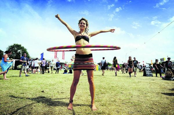Truck Festival, for me, was one of the nicest ways to enjoy a summer weekend. Dave Fleming took this very well-timed picture of 22-year-old Jess Ford showing off her hula hoop skills with a beautiful summer's blue sky as the backdrop