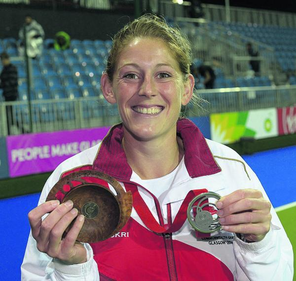 Zoe Shipperley shows off her silver medal after the hockey final against Australia            Picture: Ady Kerry