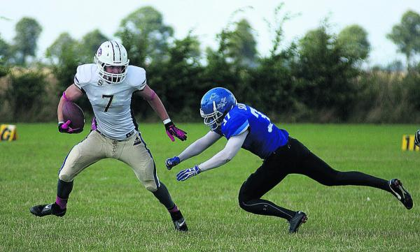 James Walter (left) scored two late touchdowns for Oxford Saints  Picture: Chris Janes
